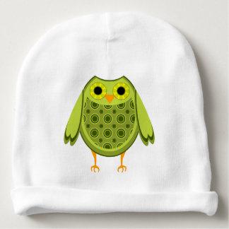 Grüne Eule Babymütze