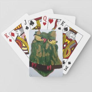 Grüne Eulen-Spielkarten Spielkarten