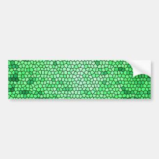 Grüne FarbBuntglasmuster Autoaufkleber