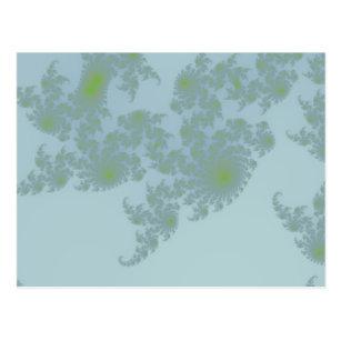 Grüne Farn-Postkarte Postkarte