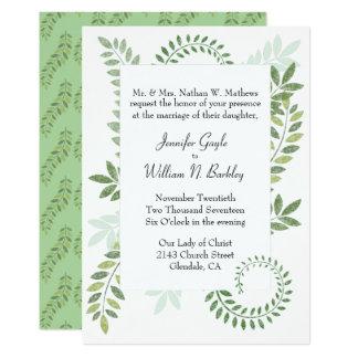 Grüne Farne, die Einladung Wedding sind