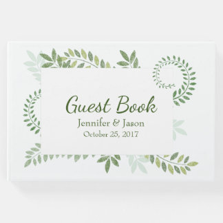 Grüne Farne, die Gast-Buch Wedding sind Gästebuch