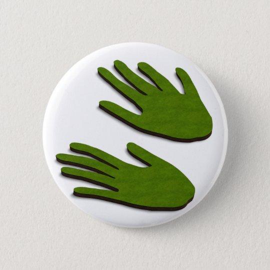 Grüne Finger Runder Button 5,7 Cm