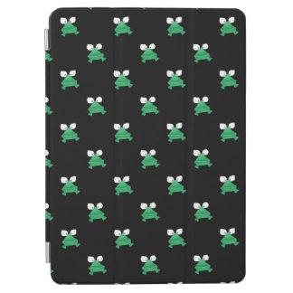 Grüne Frösche auf Schwarzem iPad Air Hülle