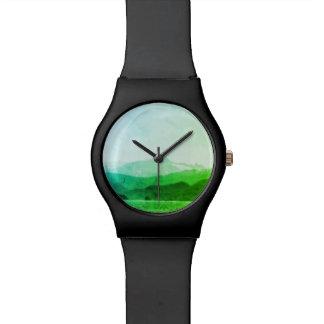 Grüne Gebirgsuhr Uhr