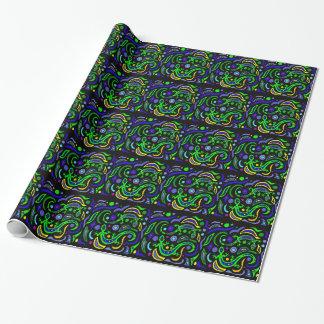 Grüne Gecko-Kunst abstrakt Geschenkpapier
