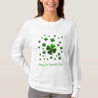 Grüne glückliche Kleeblätter T-Shirt