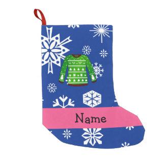 Grüne hässliche Strickjacke des individuellen Kleiner Weihnachtsstrumpf
