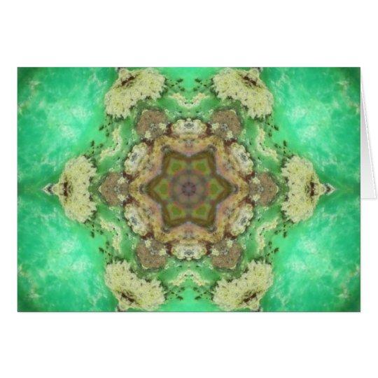 Grüne Herz Chakra Stern-Mandala Karte