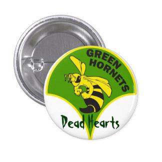 Grüne Hornissen - tote Herz-Romane Runder Button 3,2 Cm