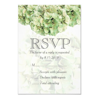 Grüne Hydrangea-Hochzeit UAWG Karte