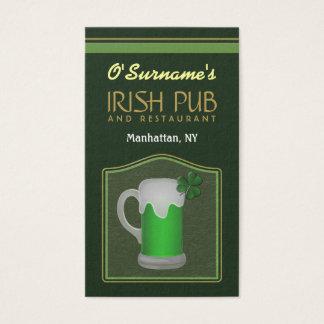 Grüne irische visitenkarte