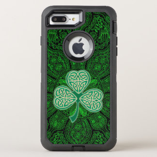 Grüne keltische Klee-Mandala Otterbox OtterBox Defender iPhone 7 Plus Hülle
