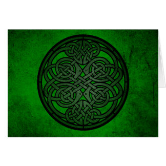 Grüne keltische Knoten-Kunst Karte