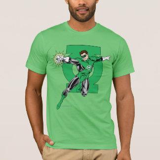 Grüne Laterne mit Logo-Hintergrund T-Shirt