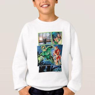 Grüne Laterne und die grelle Platte Sweatshirt