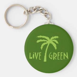 Grüne lebhaftpalme umweltsmäßig schlüsselanhänger