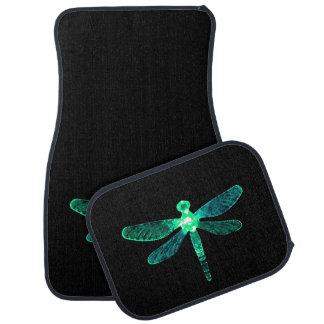 Grüne Libellen-Auto-Matten Automatte