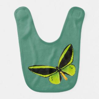 Grüne longwing Schmetterlingsentwurfsschellfische Lätzchen