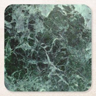 Grüne MarmorUntersetzer Kartonuntersetzer Quadrat