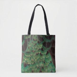 Grüne Melanistic Fasan-Federn Tasche