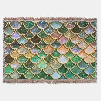 Grüne Metallfolien-Glitter-Goldmeerjungfrau-Skalen Decke