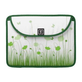 Grüne Mohnblumen Rickshaw-Klappen-Hülse Sleeve Für MacBooks