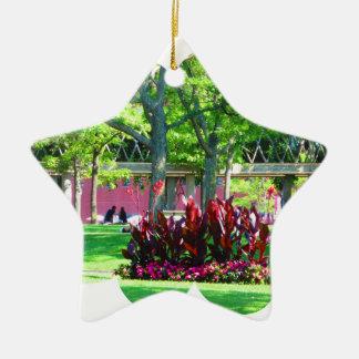 Grüne Natur-Fotografie Bostons USA Amerika Keramik Ornament