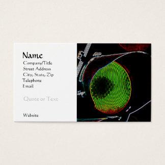 Grüne Neonlicht-Visitenkarte-Schablone Visitenkarte