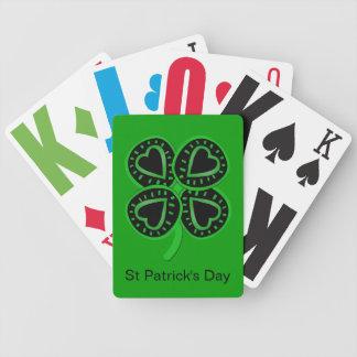 Grüne P Karten schwarzes grünes Klee-Herz-St