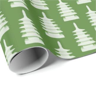 Grüne Pagoden durch Redux121DesignStudio Geschenkpapier