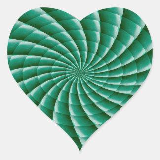 Grüne Rad Chakra SCHABLONE addieren TEXTIMG Herz-Aufkleber