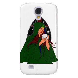 Grüne Robe Wiccan. Galaxy S4 Hülle