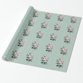 800 vintage rosen geschenkpapier zazzle. Black Bedroom Furniture Sets. Home Design Ideas