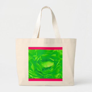 Grüne Rosen-Tasche - kundengerecht