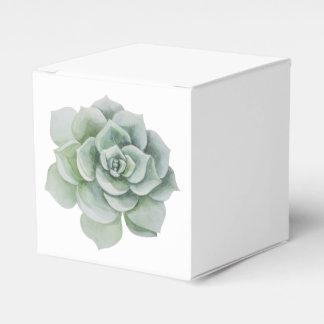 Grüne saftige Kaktuswatercolor-Party-Hochzeit Geschenkkartons
