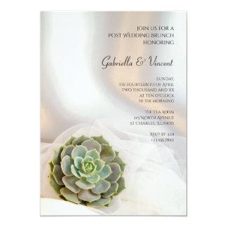 Grüne saftige Posten-Hochzeits-Brunch-Einladung 12,7 X 17,8 Cm Einladungskarte