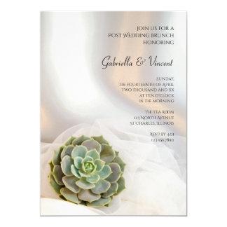 Grüne saftige Posten-Hochzeits-Brunch-Einladung Karte