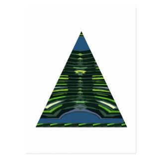GRÜNE Schein-Dreieck-Pyramide NVN237 NavinJOSHI Postkarte