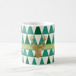 Grüne Schein-Rotwild-WeihnachtsTasse Kaffeetasse