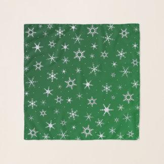 Grüne Schneeflocken Schal