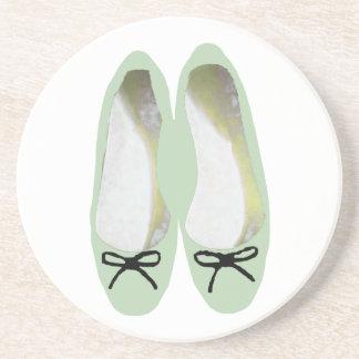 Grüne Schuhe Getränkeuntersetzer