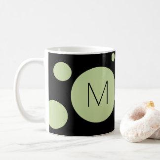 Grüne/schwarze Punkt-Gewohnheits-Tasse Tasse