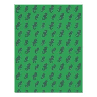 Grüne Seepferde 21,6 X 27,9 Cm Flyer