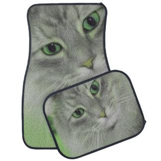 Grüne sibirische Neonkatze Automatte