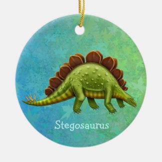 Grüne Stegosaurus-Dinosaurier-Verzierung Keramik Ornament