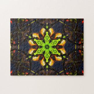 Grüne Stern-Mandala