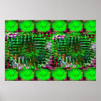 Grüne Sumpf-Sumpfgebiete Poster