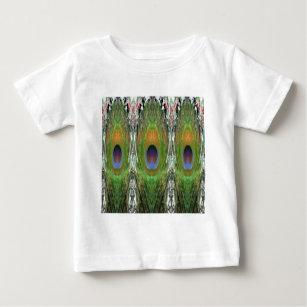 GRÜNE Szene   Pfau Feder Sammlung Baby T Shirt