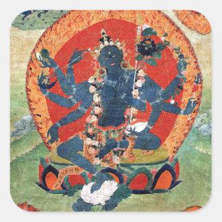 Grüne Tara-Göttin Quadratischer Aufkleber